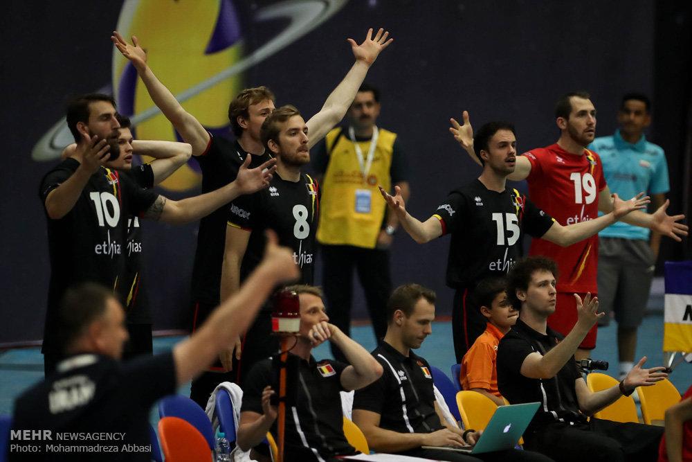 دیدار تیم های ملی والیبال ایران و بلژیک