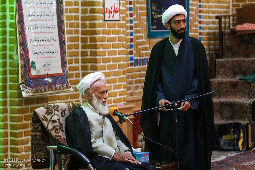 سخنرانی آیت الله حائری شیرازی در سلسله نشست های دهۀ دوم ماه رمضان