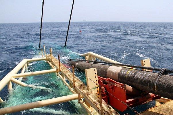 عملیات لولهگذاری دریایی کیش - گرزه تکمیل شد