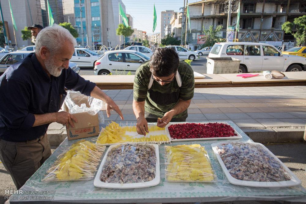 پخت آش نذری ۲۰ تنی به مناسبت میلاد امام حسن (ع)