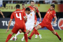 دیدار تیم های ملی فوتبال مقدونیه و اسپانیا