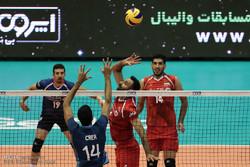 دیدار تیم های ملی والیبال ایران و آرژانتین
