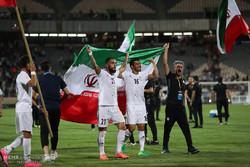 فوز المنتخب الايراني لكرة القدم على المنتخب الاوزبكي/صور