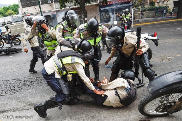 تداوم درگیری ها در کاراکاس