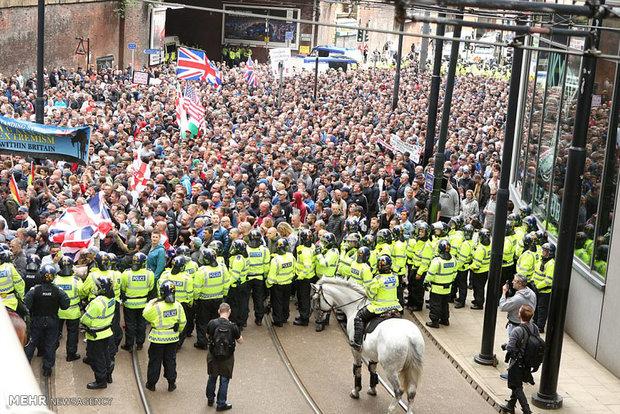 اعتراض راست های افراطی انگلیس به حملات تروریستی