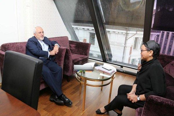 دیدرا وزیران امور خارجه ایران و اندونزی