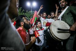 شادی مردم تهران پس از صعود تیم ملی فوتبال به جام جهانی روسیه -2