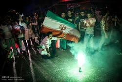 شادی مردم اهواز پس از صعود تیم ملی فوتبال به جام جهانی روسیه