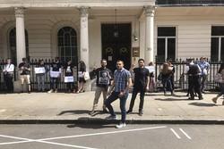Bahreynli aktivistlerden Londra'da dayanışma eylemi