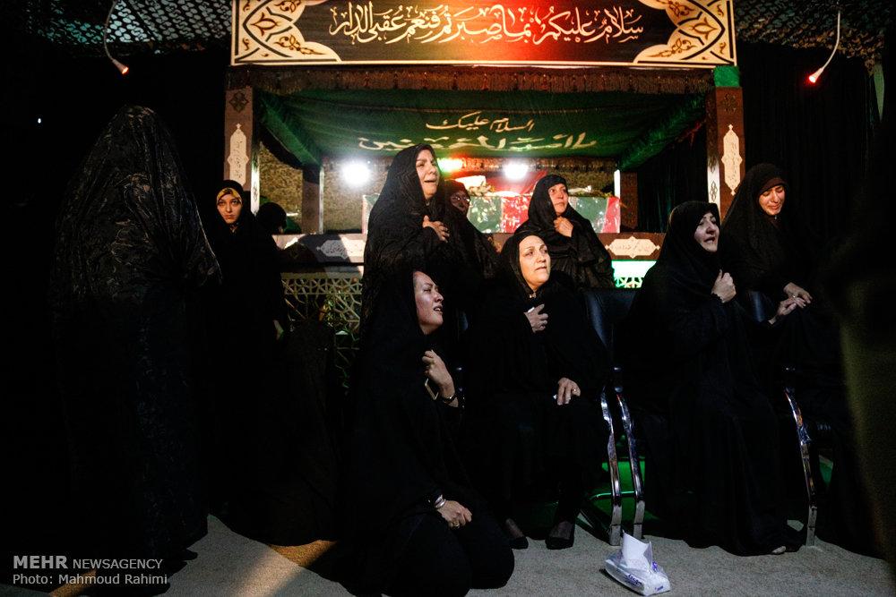 وداع با پیکر شهید مدافع حرم حیدر جلیلوند