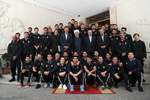Rouhani hosts national footballers