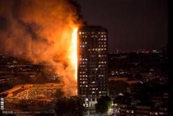 آتش سوزی برج مسکونی در لندن