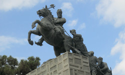 Statue of Nader Shah and his soldiers at the Naderi Museum, Mashhad, northeast Iran.