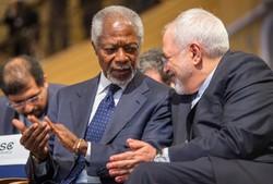 Kofi Annan and Mohammad Javad Zarif