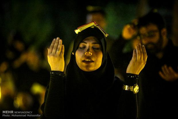 مراسم احیای شب نوزدهم ماه رمضان در گلزار شهدای تهران