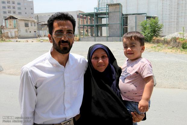 دیدار عماد اسماعيل نژاد کودک نجات یافته از حادثه تروریستی با نماینده ولی فقیه در گلستان