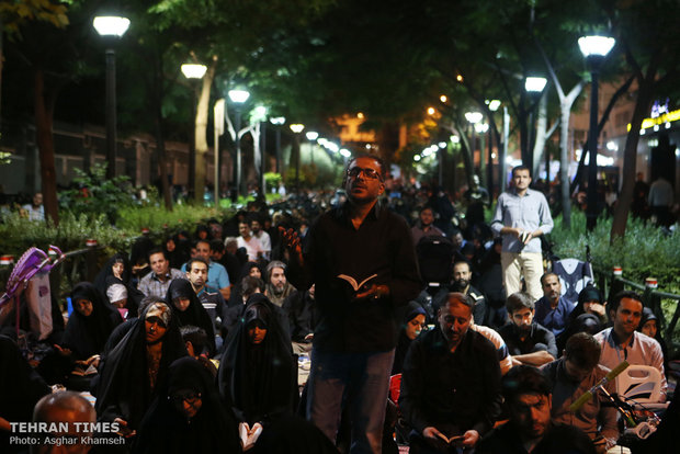 Tehraners observe Night of Destiny