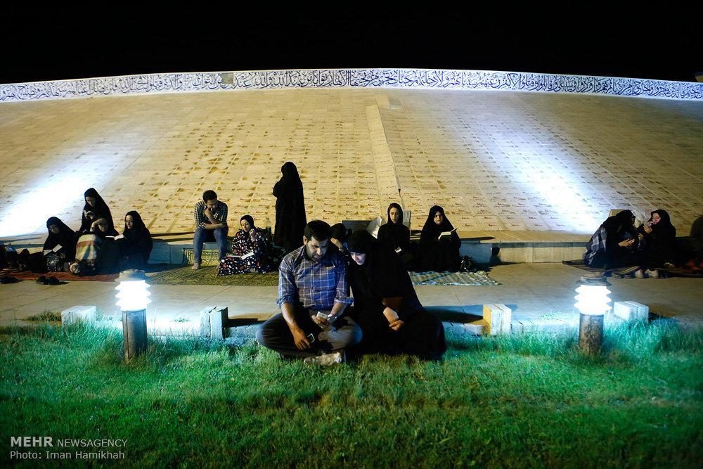 مراسم احیای شب نوزدهم ماه رمضان در باغ موزه دفاع مقدس همدان