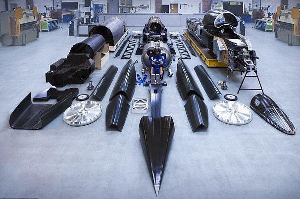 سریع ترین خودروی جهان آزمایش می شود