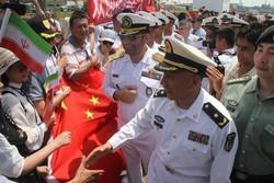 پهلوگیری ناوگروه چین در بندرعباس