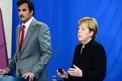 رایزنی امیر قطر و مرکل درباره تحولات منطقه و جهان