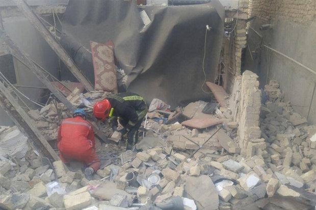 انفجار شدید ناشی از نشت گاز در یک ساختمان مسکونی