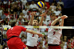دیدار تیم های ملی والیبال لهستان و روسیه