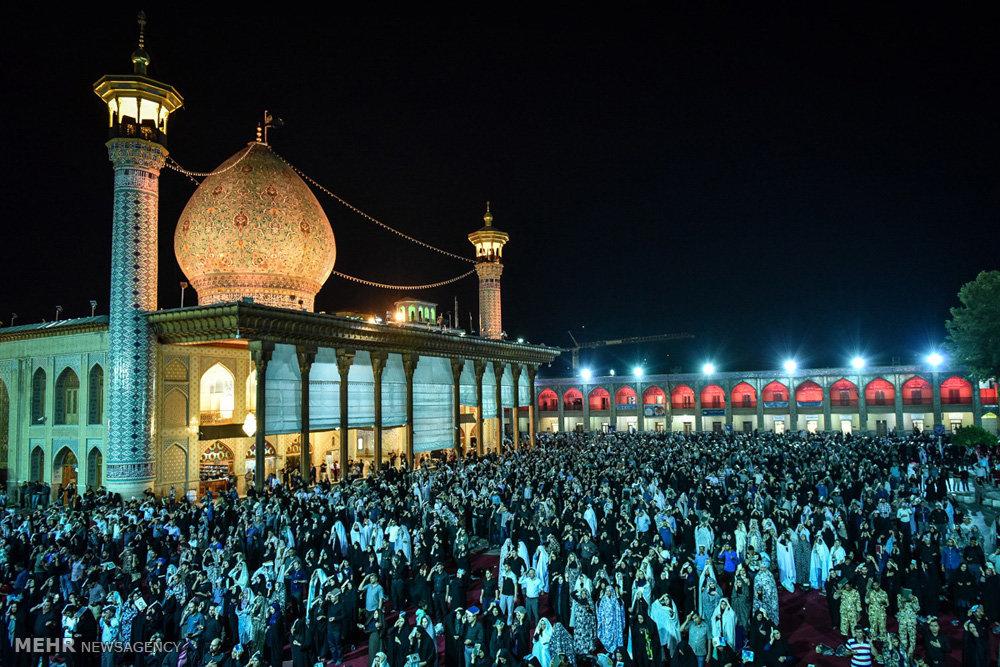 مراسم احیای شب بیست و یکم ماه رمضان در حرم شاهچراغ (ع)