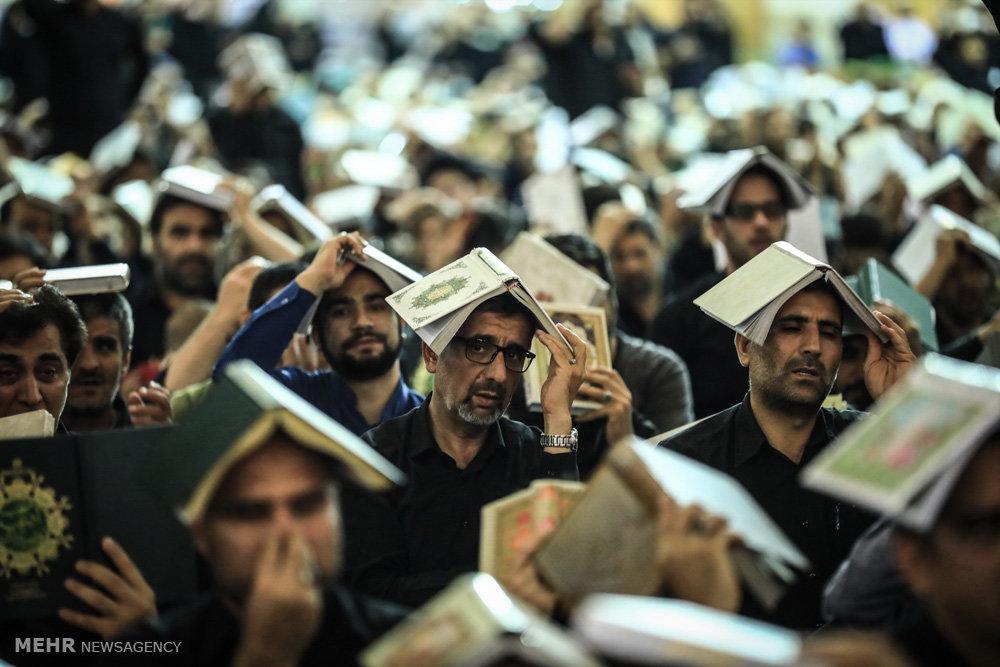 مراسم احیای شب بیست و یکم ماه رمضان در حرم حضرت معصومه (س)