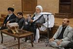 دیدار تعدادی از اساتید حوزه و حافظان قرآن کریم با آیت الله مکارم شیرازی