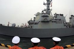 برخورد ناوشکن آمریکایی باکشتی تجاری در دریای ژاپن/۷خدمه مفقودشدند
