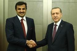 رئیس جمهور ترکیه و امیر قطر