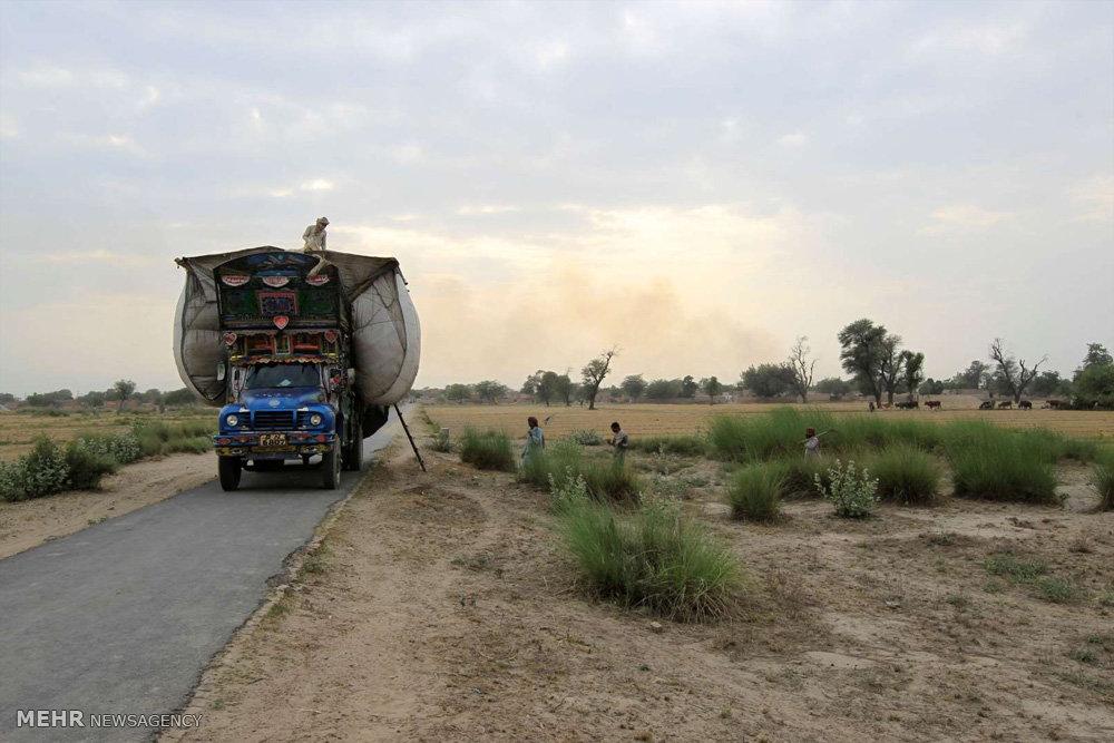 کامیون های پر نقش و نگار پاکستانی