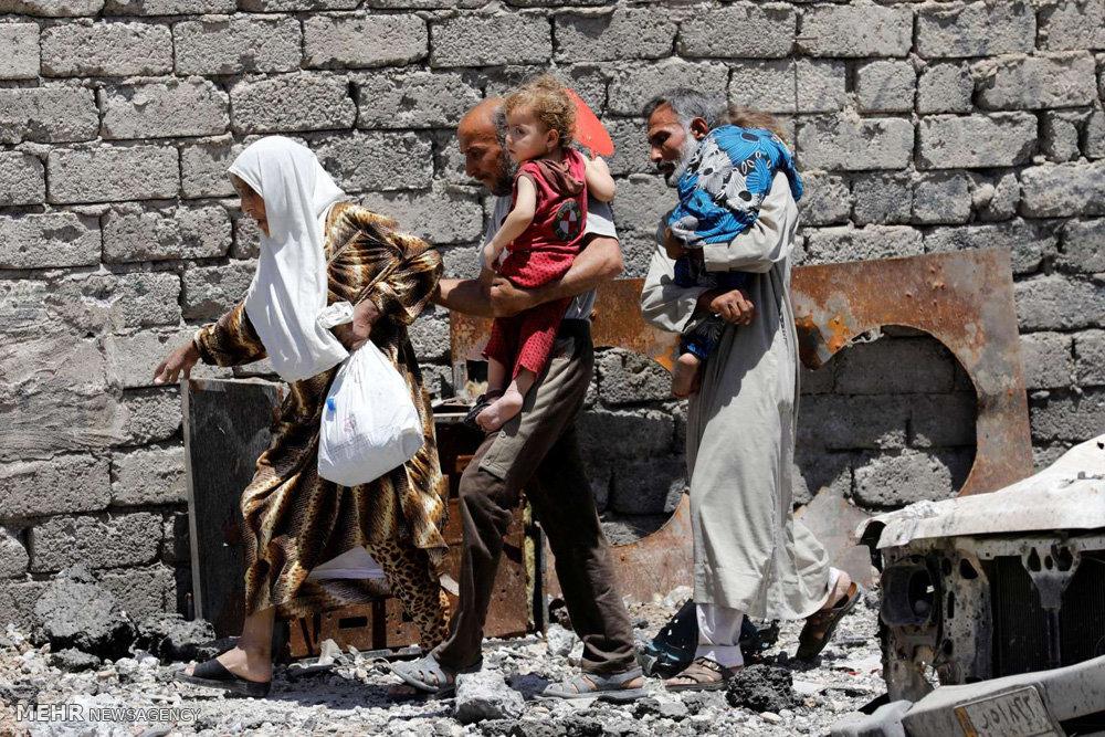 نجات کودکان از معرکه موصل