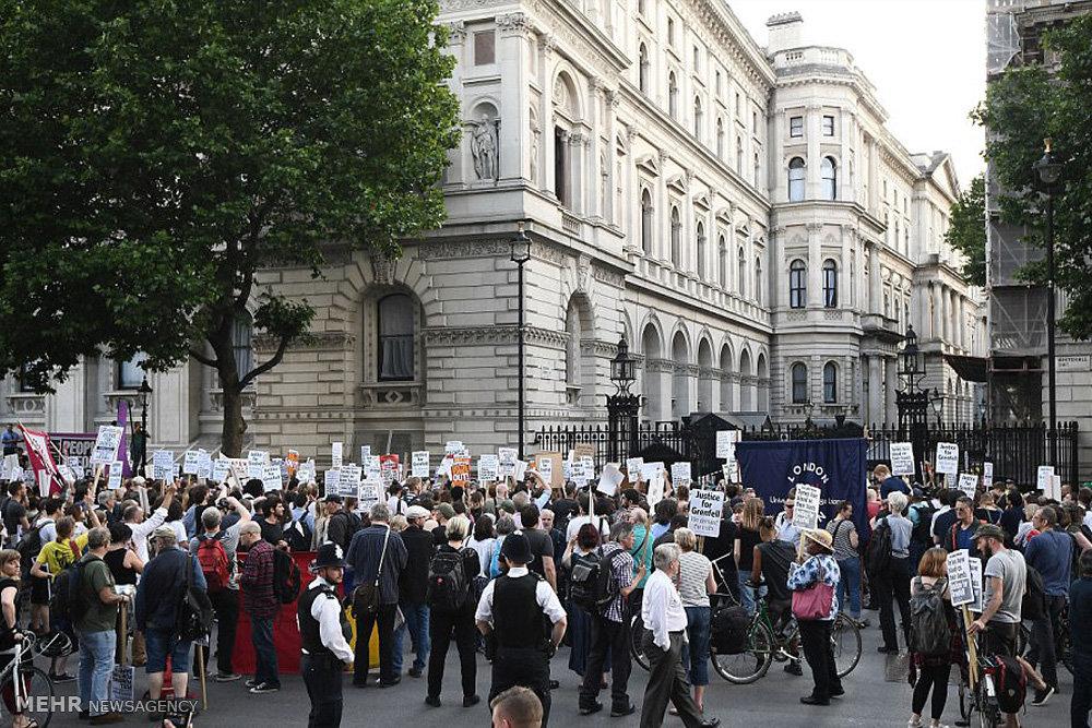 اعتراضات به فاجعه برج گرنفل در لندن