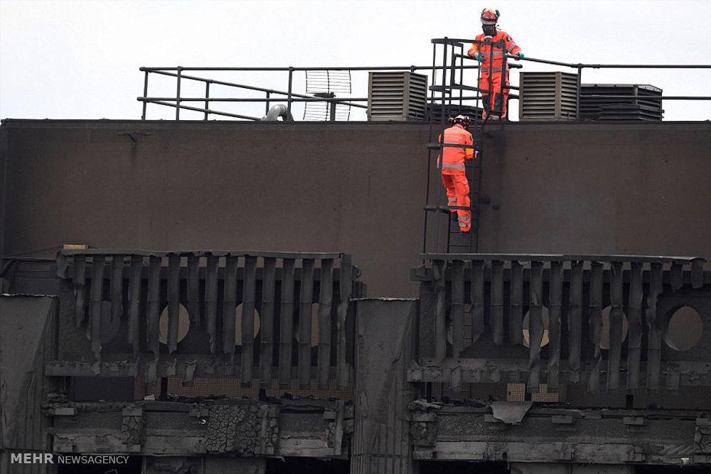 تلاش برای خارج کردن اجساد از برج گرنفل