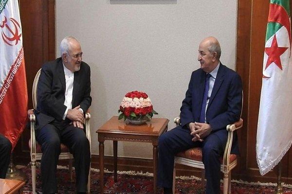 ظریف با نخست وزیر الجزایر دیدار کرد,