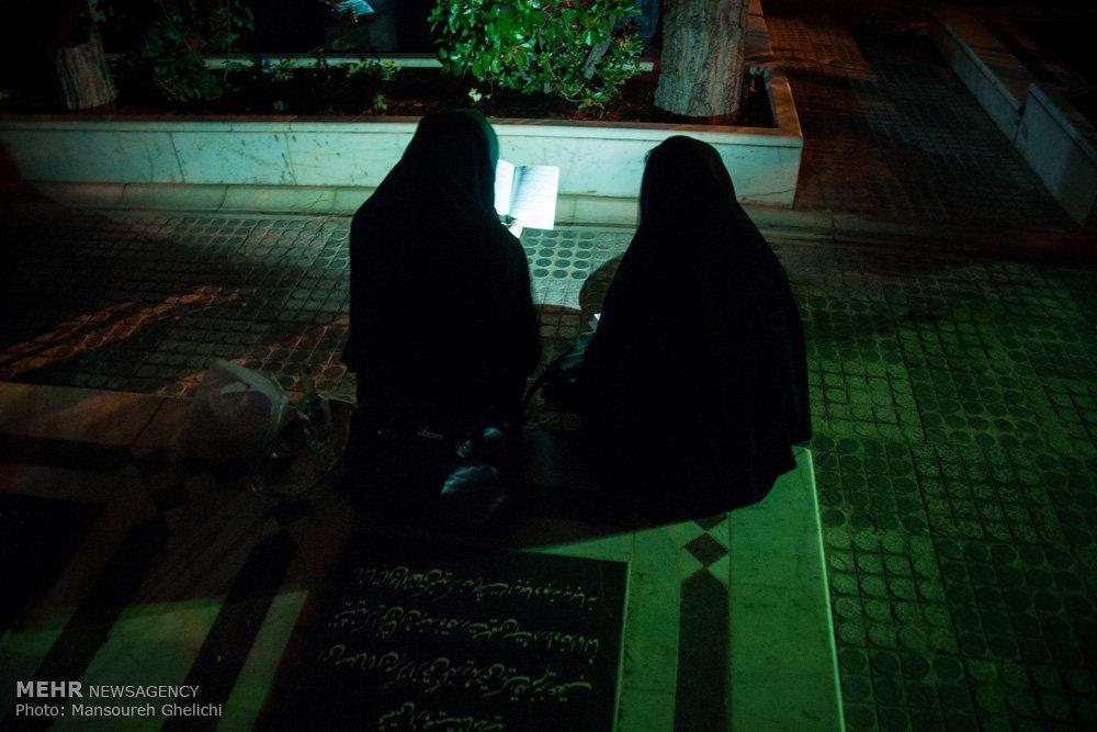 مراسم احیای شب بیست و سوم ماه رمضان در گلزار شهدای شاهرود