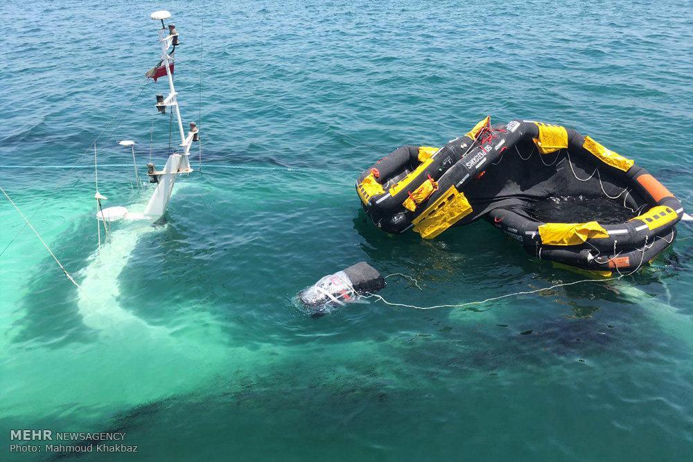 Mehr News Agency - Denna Cruise Ship sinks in Kish Island
