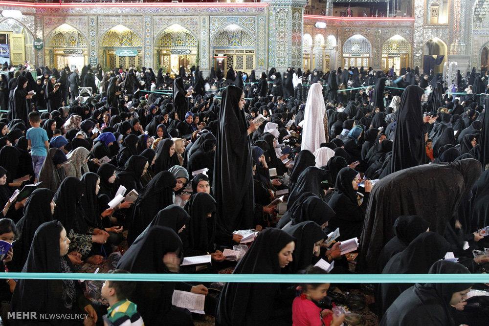 مراسم احیای شب بیست و سوم ماه رمضان در حرم حضرت معصومه (س)