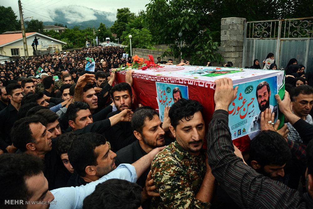 مراسم تشییع و تدفین شهید حسن عشوری