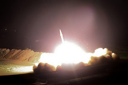 IRGC releases images of missile attack at ISIL positions in Syria