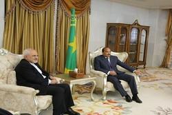 وزير الخارجية الإيراني يلتقي رئيس جمهورية موريتانيا