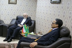 ظريف يبحث مع نظيره الموريتاني سبل توسيع العلاقات بين البلدين