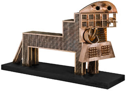 """""""Big Lion"""", the largest work from Parviz Tanavoli's series """"Lions"""", was completed in 2016."""