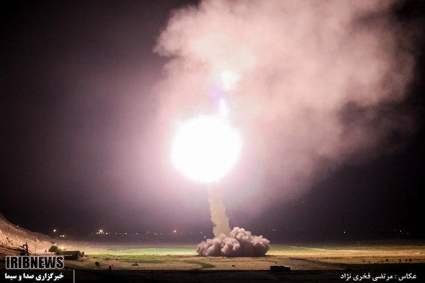 حمله موشکی سپاه به تروریست های تکفیری در دیرالزور