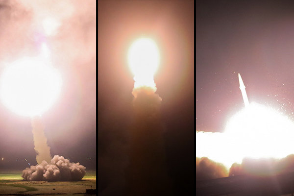 حمله موشکی به داعش
