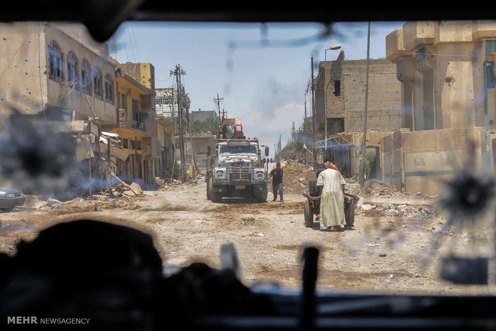 ادامه پیش روی ها در شهر موصل