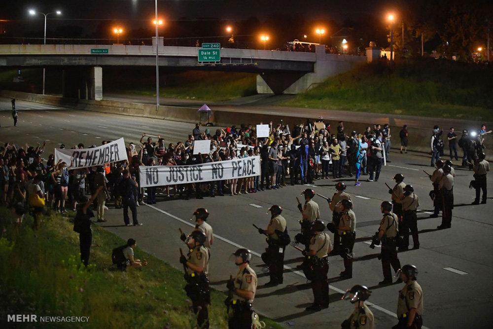 اعتراض به تبرئه پلیس قاتل در آمریکا