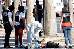خودروی عامل حمله «شانزه لیزه» پاریس حامل سلاح و مواد منفجره بود